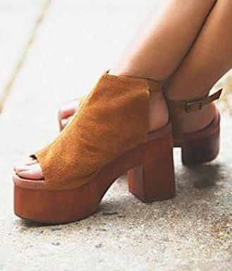 cute chunky platforms leather