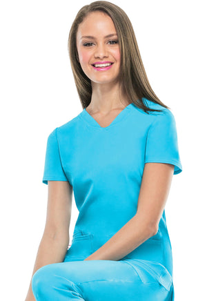 Turquoise 20710 Shaped V-Neck Top Lavie Scrubs