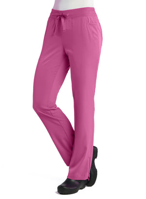 Raspberry Rose Maevn's Pure Ladies Modern Yoga Pants Lavie Scrubs