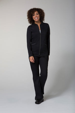 Black Maevn Two Toned Jacket lavie scrubs