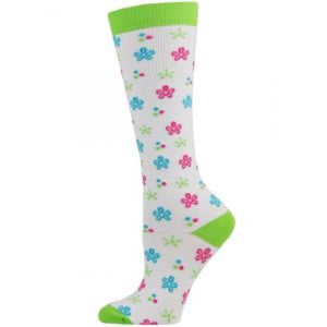 Flower Power XL Compression Socks Lavie Scrubs