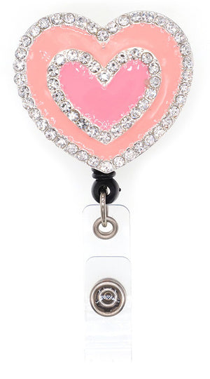 Dazzle Retractable Badge Reel - Heart Lavie Scrubs