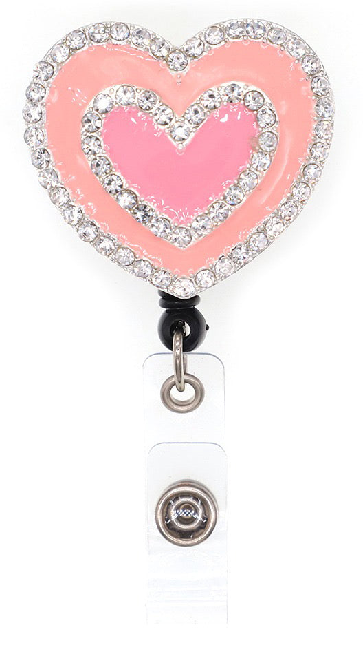 Dazzle Retractable Badge Reel - Heart