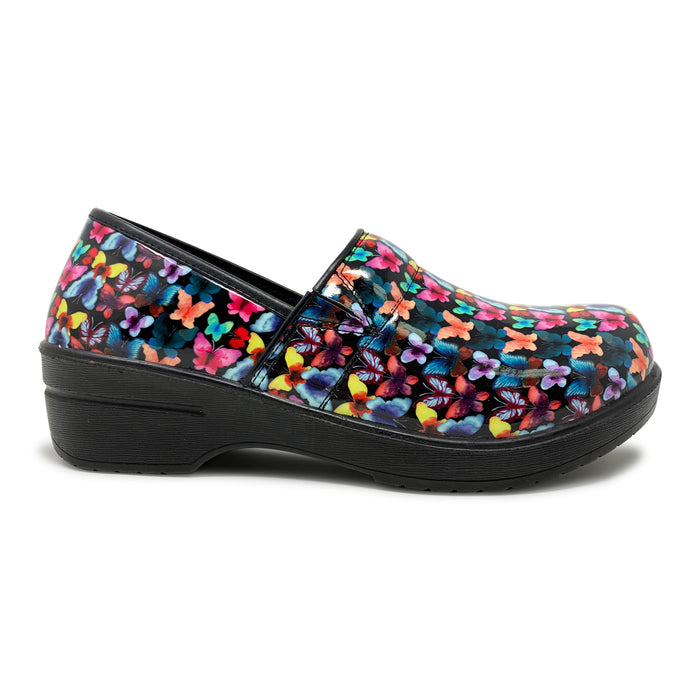 Multi-color Butterfly  Slip Resistant Clogs with Memory Foam Insoles