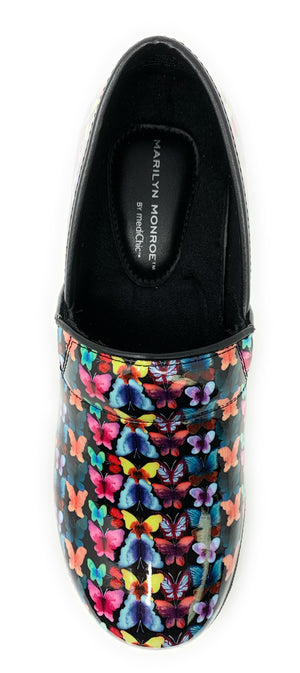 Multi-color Butterfly Clogs Lavie Scrubs