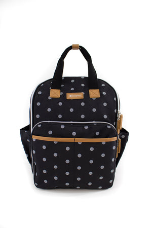 Black polka dot Maevn Ready Go Mini backpack Lavie Scrubs
