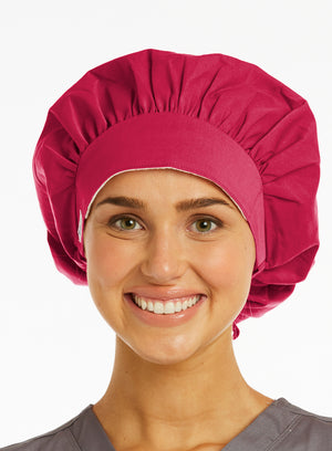 Lavie Scrubs Maevn's Ladies Bouffant Scrub Hat Pink Rose