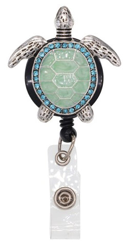 Dazzle Retractable Badge Reel - Turtle Lavie Scrubs