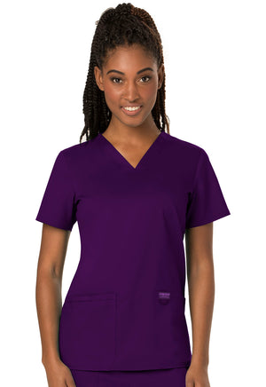 Eggplant WW Revolution V-Neck Top Lavie Scrubs