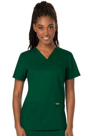 Hunter Green WW Revolution V-Neck Top Lavie Scrubs