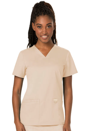 Khaki WW Revolution V-Neck Top Lavie Scrubs