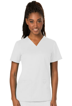 White WW Revolution V-Neck Top Lavie Scrubs
