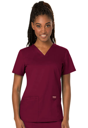 Wine WW Revolution V-Neck Top Lavie Scrubs