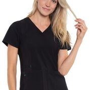 Black, Racerback Shirttail Top, Lavie Scrubs