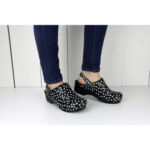 Sanita Estelle Black polka Dot Lavie Scrubs