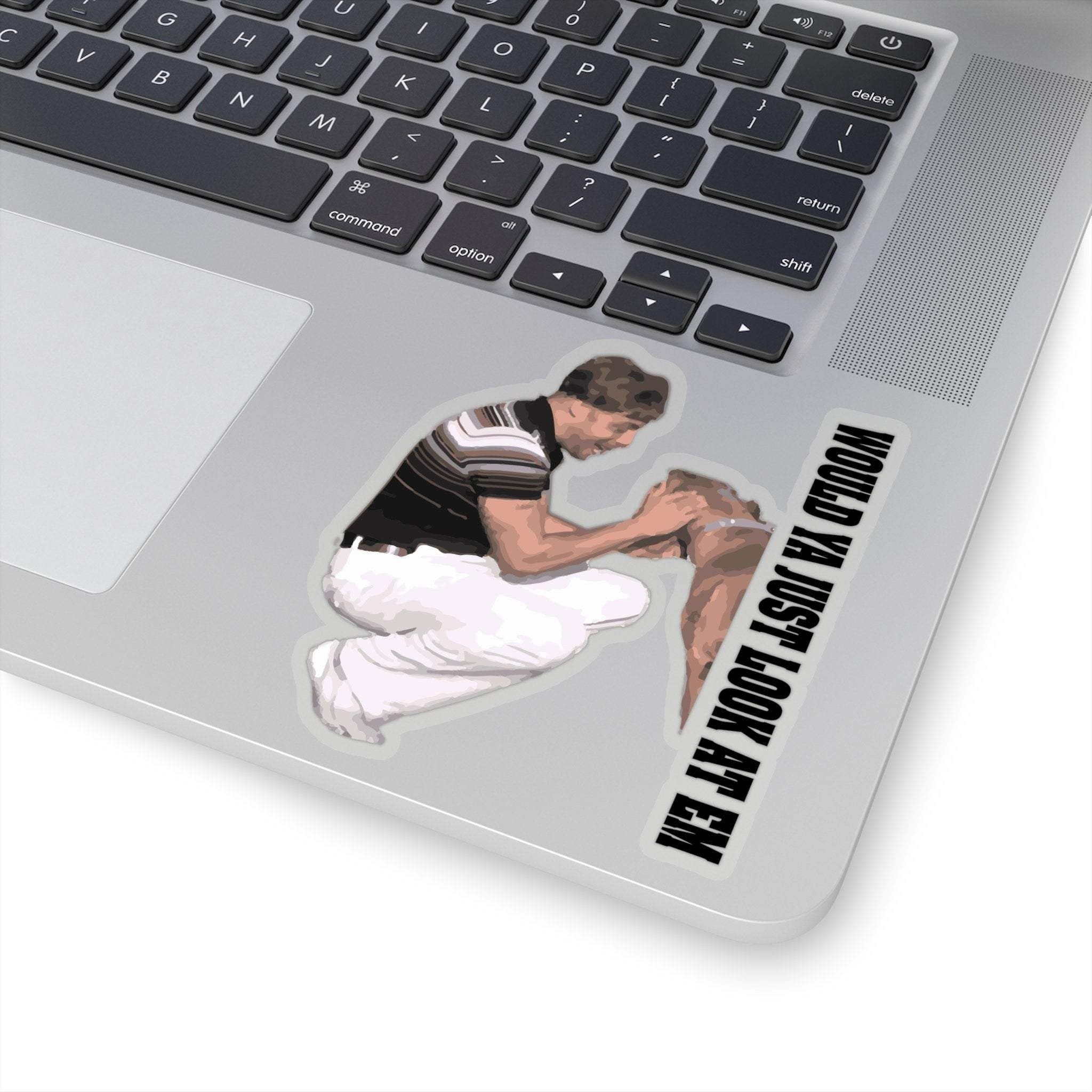 transparent ed bassmaster look at it sticker