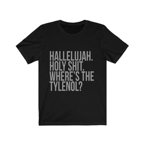 National Lampoons Christmas Vacation Shirt - Hallelujah. Holy Shit. Where's the Tylenol? - Long Sleeve Christmas Shirts