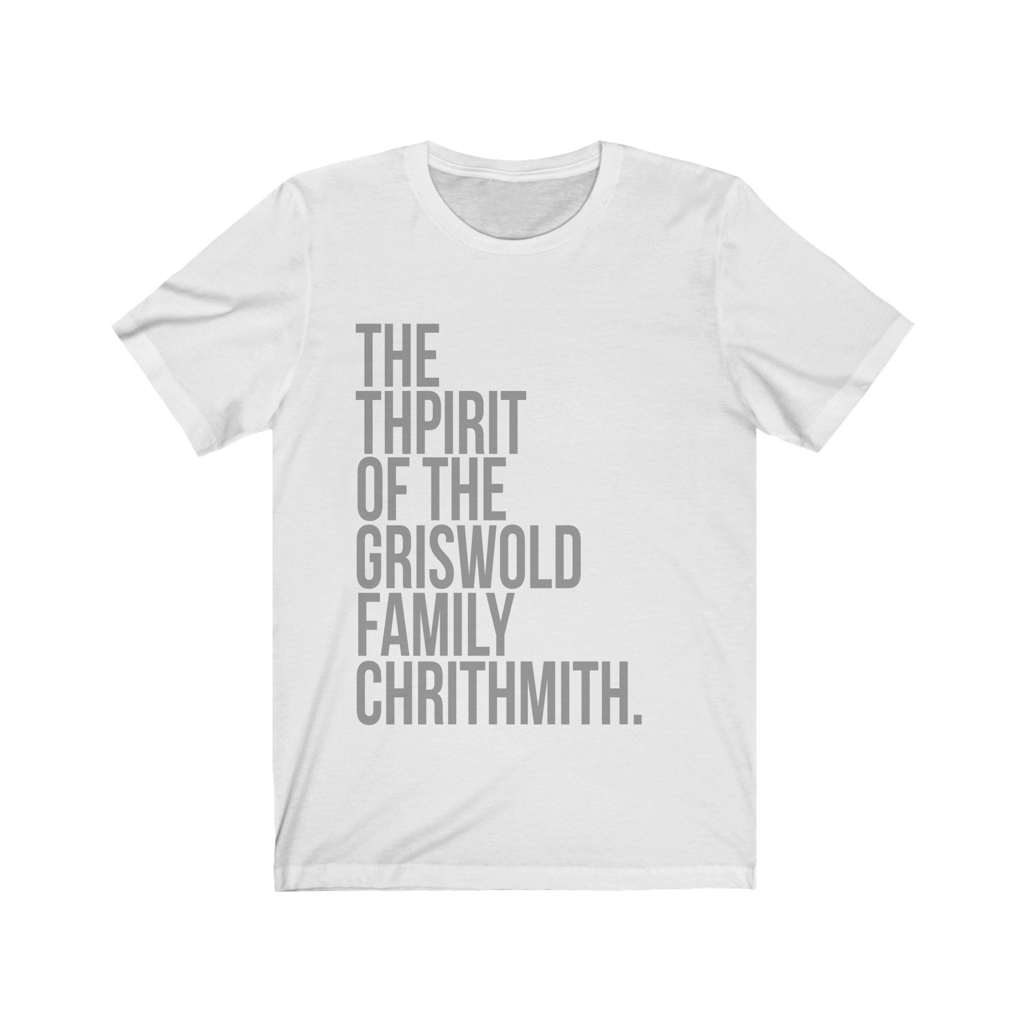 National Lampoons Christmas Vacation Shirt - The Thpirit of the Griswold Family Chrithmith -  Long Sleeve Christmas Shirts