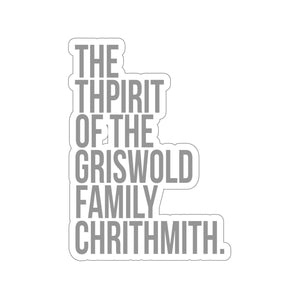 Thpirit of the Griswold Family Chrithmith - National Lampoons Christmas Vacation Stickers - Stickers for Laptop - Waterbottle Sticker