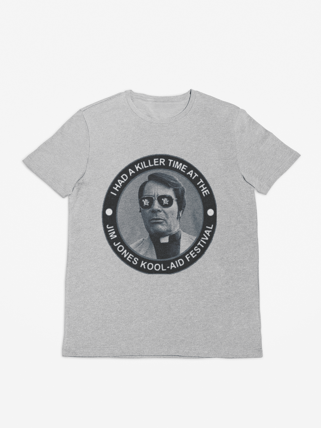 gray jim jones kool aid shirt