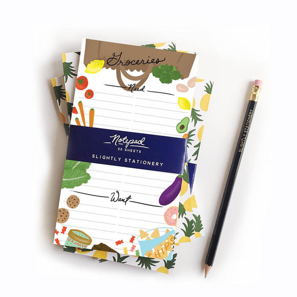 Wants & Needs Grocery Notepad