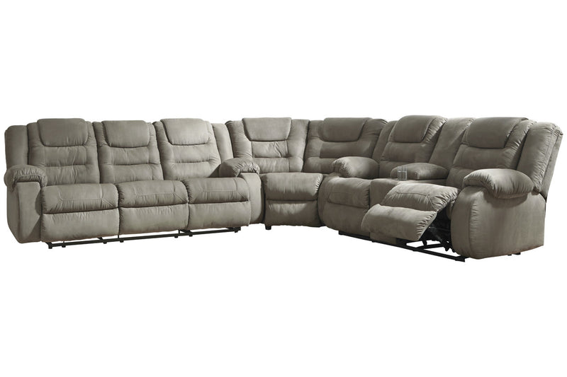 10104 McCade Cobblestone 3-Piece Reclining Sectional