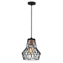 Vero 1055CLBABLACK 1-Light Single Geometric Pendant