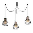 Vero 1060CLB6BLACK 6-Light Cluster Geometric Pendant