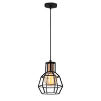 Vero 1060CLBABLACK 1-Light Single Geometric Pendant