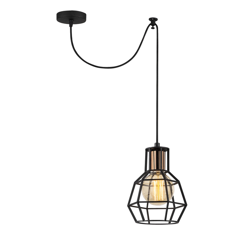 Vero 1060CLBBLACK 1-Light Single Geometric Pendant