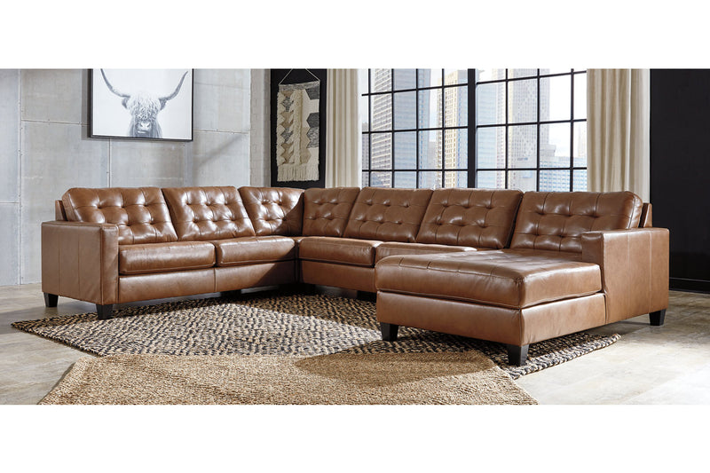 11102 Baskove Auburn 4-Piece Sectional with Chaise | 11102S2 | by Ashley | Nova Furniture