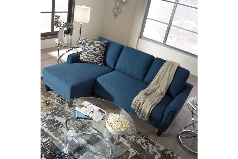 11503 Jarreau Blue Sofa Chaise Sleeper
