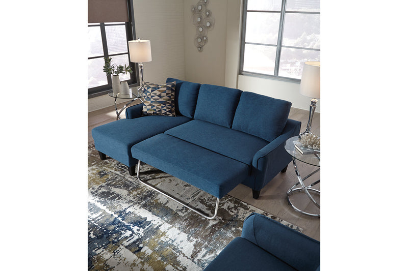 11503 Jarreau Blue Sofa Chaise Sleeper | 1150371 | by Ashley | Nova Furniture
