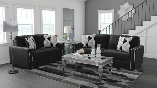 12206 Gleston Onyx Sofa & Loveseat