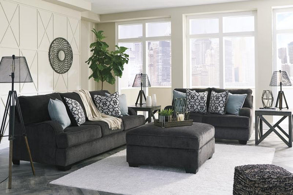 14101 Charenton Charcoal Sofa & Loveseat