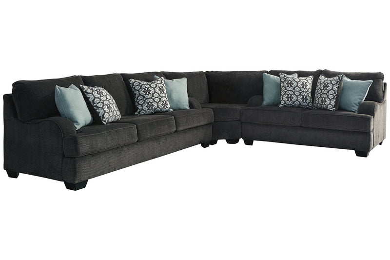 14101 Charenton Charcoal 3-Piece Sectional | 14101S1 | by Ashley | Nova Furniture