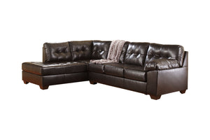 20101 Alliston Chocolate 2-Piece LAF Chaise Sectional