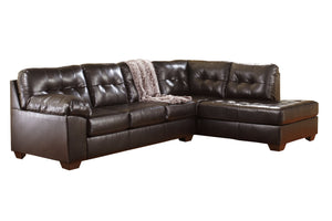 20101 Alliston Chocolate 2-Piece RAF Chaise Sectional