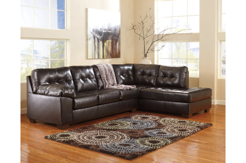 20101 Alliston Chocolate 2-Piece Sectional with Chaise | 20101S2 | by Ashley | Nova Furniture