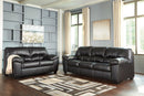 24702 Brazoria Black Sofa & Loveseat