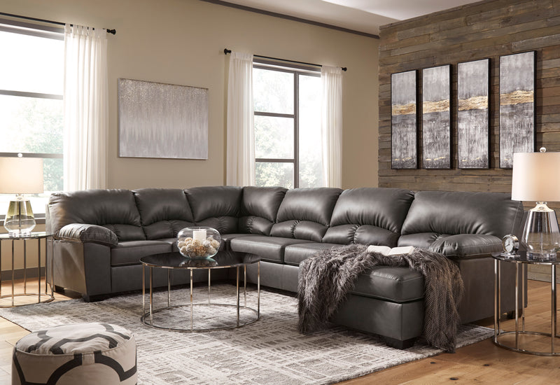 25601 Aberton Gray 3-Piece LAF Chaise Sectional