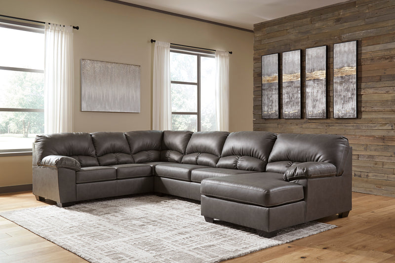 25601 Aberton Gray 3-Piece Sectional with Chaise | 25601S2 | by Ashley | Nova Furniture