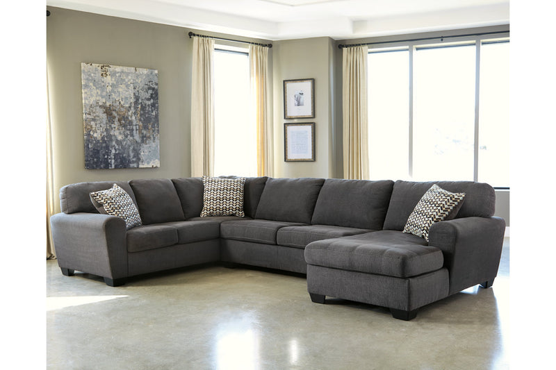 28600 Sorenton Slate 3-Piece Sectional with Chaise | 28600S2 | by Ashley | Nova Furniture