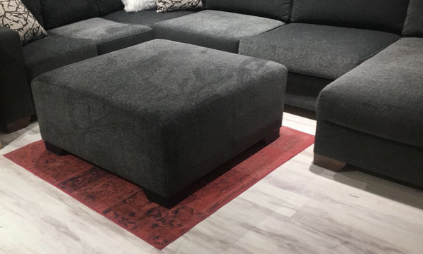 Herman Smoke Ottoman - Luna Furniture