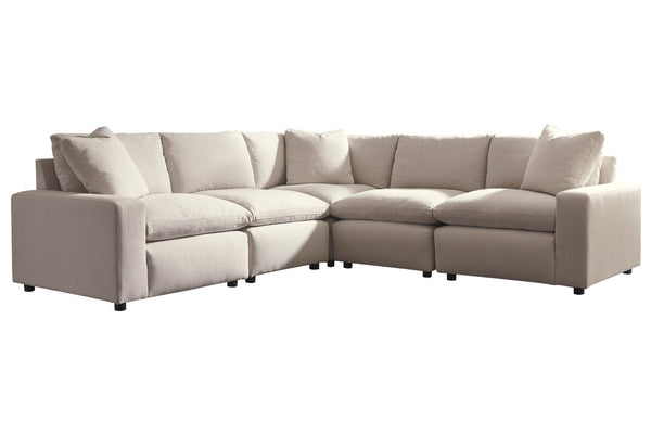 31102 Savesto Ivory 5-Piece Sectional