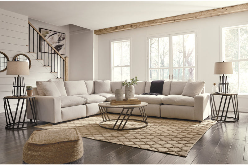 31102 Savesto Ivory 6-Piece Sectional