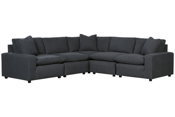 31104 Savesto Charcoal 5-Piece Sectional