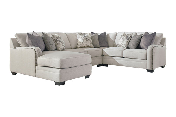 32101 Dellara Chalk 4-Piece LAF Chaise Sectional