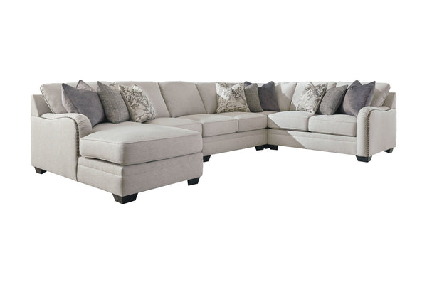 32101 Dellara Chalk 5-Piece LAF Chaise Sectional with Chaise