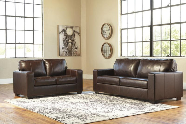 34502 Morelos Chocolate Sofa & Loveseat